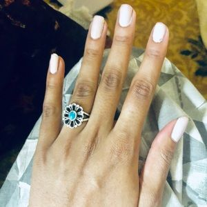 James Avery Ring De Flores Ring with Turquoise